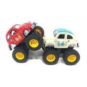 Akrobo Inertia Powered and Four Wheel Drive Power Car (Set of 2 )
