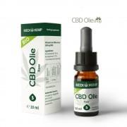 Medihemp CBD Olie Raw 5% CBD, 10 ml.