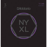 D'Addario NYXL1149-3P 11-49 Carbon Steel Alloy - 3-Pack