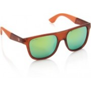 Allen Solly Rectangular Sunglasses(Green)