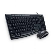 Logitech MK200 Combo de Mouse y Teclado con Cable Negro