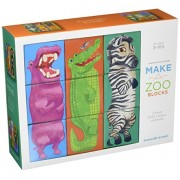 Crocodile Creek Make a Zoo Mix and Match Block Puzzle Stacking Sets, Multi Color