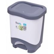 Cos de gunoi EKO XL 24 l cu galeata si maner alb
