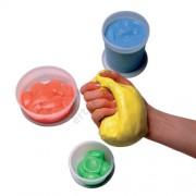 Kéz- és ujjerősítő rehabilitációs gyurma, Theraputty, kék (erős)