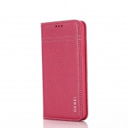 GEBEI Warship Series Genuine Leather Phone Shell Case with Card Slots for iPhone 11 6.1-inch - Rose
