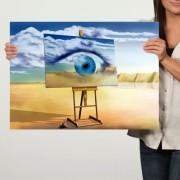 Tablou Canvas, Reproducere dupa Dali, Ochiul Vizionar TRSD30 (Dimensiune LxH: 60x45cm)