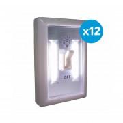 Pack 12 interruptores para armario Gonline