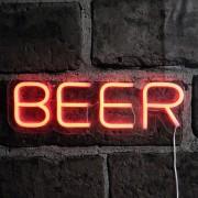 LED svietiaca reklama pub nápis - BEER