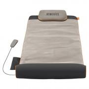 Saltea cu 4 zone de masaj YMM-1500-EU, Homedics, 4 programe de masaj, 3 nivele de intensitate, telecomanda, perna inclusa, pliabila, Gri
