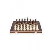 Joc Sah & Table, 44 cm, maro