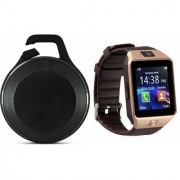 Zemini DZ09 Smart Watch and Clip Plus Bluetooth Speaker for LG OPTIMUS 4X HD(DZ09 Smart Watch With 4G Sim Card Memory Card| Clip Plus Bluetooth Speaker)