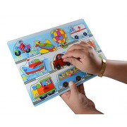 INSTABUYZ Educational Learning Puzzles for Kids Ages 3+ Years | Vehicles Puzzle Dimensions (30x22cm)