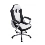 CLP Sedia da ufficio XL Morgan , nero/bianco , nero/bianco, altezza seduta