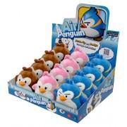 Air Penguin Plush - Set of 3 Penguins (Brown, Blue & Pink) (5 inch)