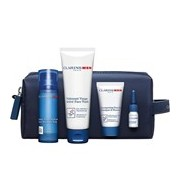 Coffret bálsamo hidratante 50ml+gel lavante 125ml+shampoo 30ml+óleo barbear 3ml - Clarins