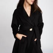 Manteau long fermeture boutonnée, mi-saison