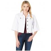BCBGeneration Wide Sleeve Cropped Denim Jacket Optic White