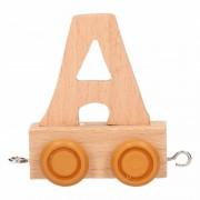 Geen Letter A treintje van hout