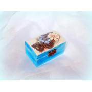 Cutiuta din lemn - floral - 0555