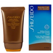 SHISEIDO BRILLIANT BRONZE TINTED SELF-TANNING CREAM MEDIUM 50 ML