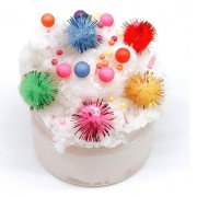 100ML Slime Brushed Cotton Mud Christmas Balls Silk Mud Plasticine Clay Toys