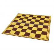 Tablă de șah carton dublată textil pe linia de pliere, galben/maro