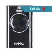 FAAC Télécommande FAAC XT2 433 SLH NOIR Pack de 5 - FAAC