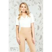 Bluză damă albă cu decolteu anchior L (40)