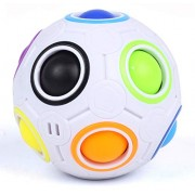 Magic Rainbow Ball - Bdwing BD09 2.5 inches Intelligence Magical Rainbow Ball Cube Fidget Toy, 3D Puzzle Toys, Fun Fidget Balls, Football Design, Speedcube Educational Toy for Kids and Adults
