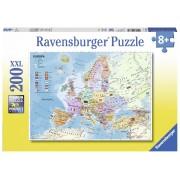 Ravensburger puzzle harta politica a europei, 200 piese