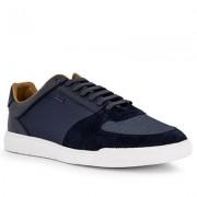 Boss Schuhe Herren, Glattleder, blau