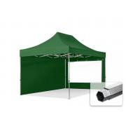 TOOLPORT Pop Up Gazebo 3x4,5m High Performance Polyester 400 g/m² dark green waterproof