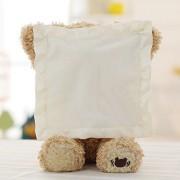 AST Works Teddy Bear Peek a Boo Play Hide and Seek Soft Brown Christmas Gift Cute