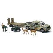 Camo Pick Up Truck w/ ATV & Deer Set