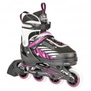 Top1Toys Inline Skate 33-36 Zwart/Lila Hudora