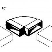 Ventilacijski sustav plosnatih kanalica 100 zakrivljena cijev 90 ° Wallair 20200112