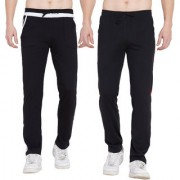 Cliths Cotton Track Pants for Men/ Mens Sports lower/ Mens Stylish Jogger Pants- Pack of 2 (Black White Red Black)
