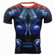 Camiseta al aire libre de las medias de los hombres short-sleeved del trueno del trueno (xxl)