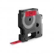 Etichete autocolante DYMO LabelManager D1 9mm x 7m negru rosu 40917 S0720720