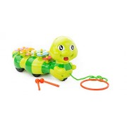 Dragging Caterpillar Xylophone,Sound and Pulling Crawling Toy for Children Toddlers