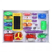PEATAO SC-1000 Electronics Discovery Kit, Solar Educational Electronic Block Kit Great Science DIY Toy Kit for Kids