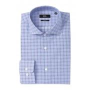 BOSS Plaid Trim Fit Dress Shirt LIGHTPASTEL BLUE