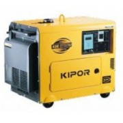 Generator Curent Electric Kipor KDE 6700 TA3, Motor diesel, 3000 RPM, Insonorizat