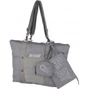 Baby aan boord - omkleedzak - burgerstenen tas - compact formaat - centraal compartiment met 4 zakken - groot compartiment repa
