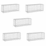 Комплект от 5 броя градински габиони - ограда, 40 x 100 x 30cm