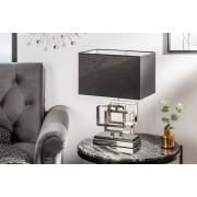 Stolná lampa LEONA 56 cm - strieborná