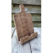 by Mooss - boek standaard – tablet standaard - hout - 38 cm hoog x 23 x 7,5 cm
