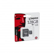 Memoria Kingston MicroSDXC UHS-1 De 128 GB, Clase 10, Incluye Adaptador SD. SDC10G2/128GB