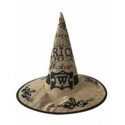 Sombrero brujo tela de yute adulto Halloween Única