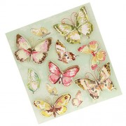 Magideal 8pcs 3D Stereoscopic Classic Vintage Kids Stickers Colorful Butterfly